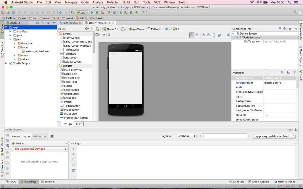 Android Studio nella sua interezza
